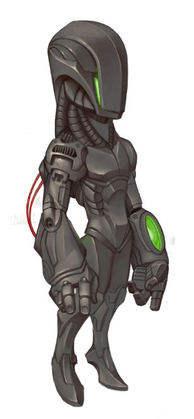 Roboter-Character