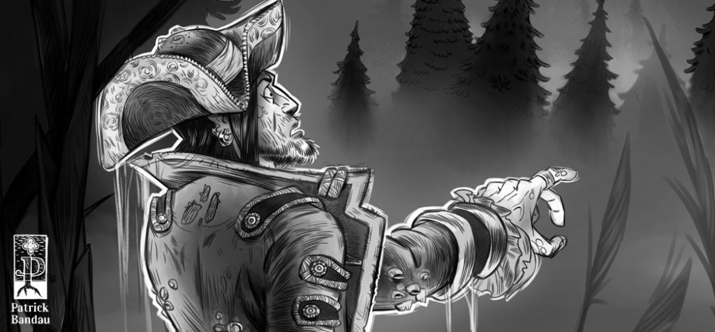 ein pirat als geist . illustration patrick bandau