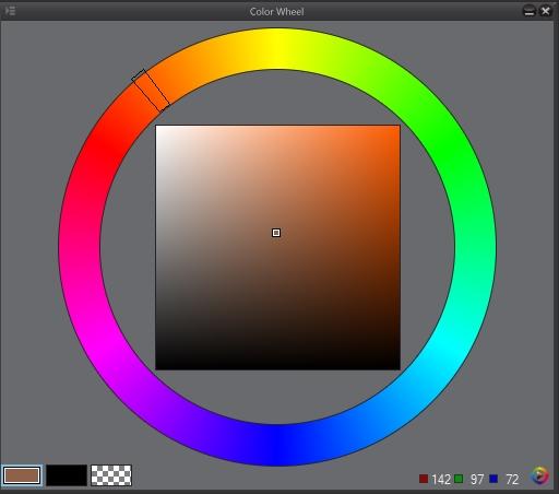 der farbkreis in clip studio paint