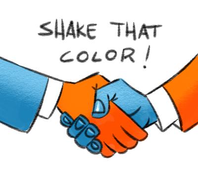 Wie benutze ich Komplementärfarben?
