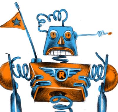 Roboter Conceptart für eine Illustration
