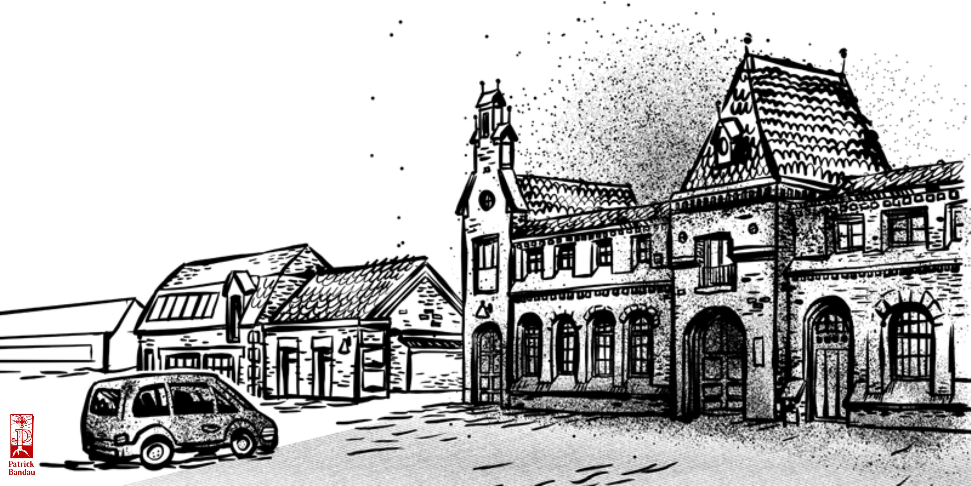 Skizzenbuch skizze illustration gebäude