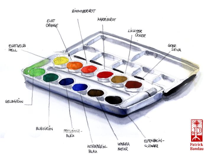 Dieses Bild wurde mit den Farben des Schmincke Aquarellkastens 76113 gemalt