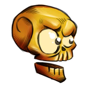 Sketch a skull