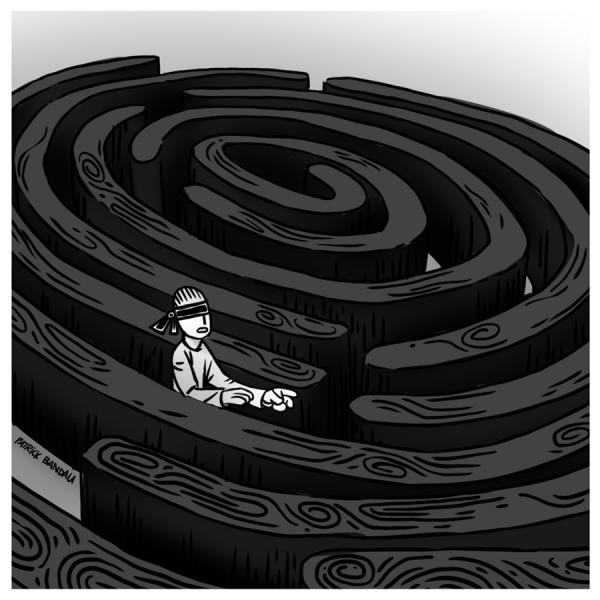illustration zum thema suche nach der identität